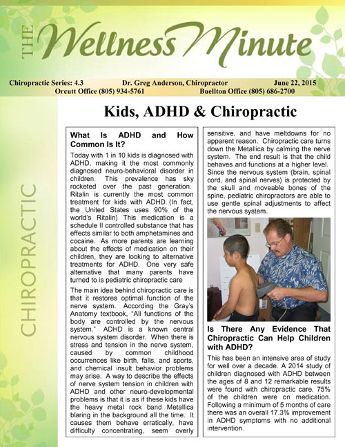 Chiropractic4.3ADHD